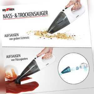 Akku Handstaubsauger Staubsauger kabellos beutellos Nass und Trocken Grafner®