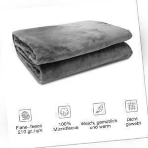 Kuscheldecke Wohndecke Fleecedecke Flauschige Decke 220x240cm Warm