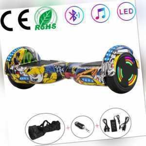 """Hoverboard 6,5"""" Hip-Hop Elektro Scooter Bluetooth LED E-skateboard Für Kinder"""