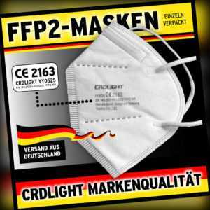 2000 FFP2 Maske Mundschutz Masken Atemschutz 5-lagig  zertifiziert CE0194 EN149