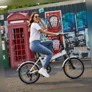 """Faltbares Elektrofahrrad E-Bike,20"""" Electric Mountainbike Klappbar Pedelec DHL"""
