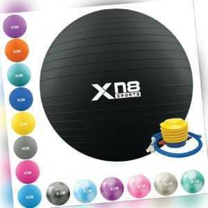 XN8 Gymnastikball 55-85 cm Sitzball Fitnessball Sportball Pilates Ball mit Pumpe
