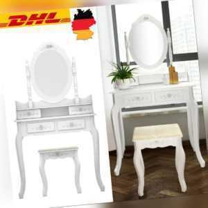 4 Schubladen mit Spiegel Make-up Schminktisch Set Schlafzimmer Ankleide Möbel DE