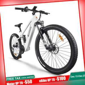 "27,5"" vollgefedertes Elektro-Mountainbike 9-Gang 48V 750W BAFANG Mittelmotor"