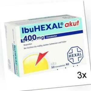 3x IBUHEXAL akut 400 Filmtabletten 50 St PZN: 3161577