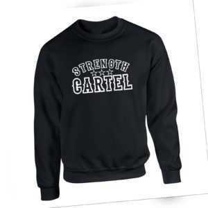 Strength Cartel Sweatshirt GYM Training Lifting Workout Men's Pullover Jumper