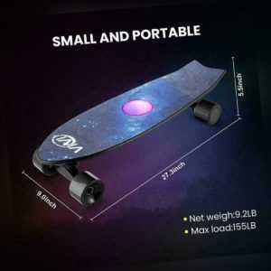 Elektrisches Skateboard Longboard 350W E-Board mit Handfernbedienung 35 km /h DE