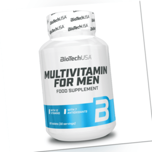 (EUR 161,13/kg) BioTech USA - Multivitamin for Men, 60 Tabletten - Vitamine -