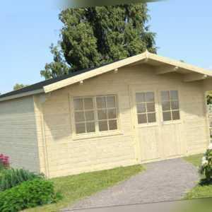 40 mm Gartenhaus INKLUSIVE Montage 500x500 cm Aufbau Gerätehaus Holzhaus Holz