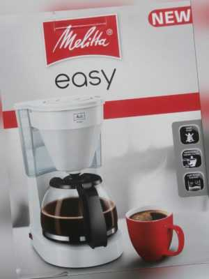 Melitta Filter Kaffeemaschine Easy weiß  Glaskanne  für 10-15Tassen