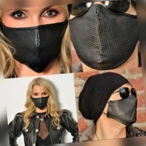 Mundschutz Gesichtsschutz Ledermaske aus ECHTLEDER