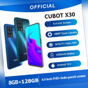 6.4Zoll Cubot X30 Android 10 Handy 8GB+128GB 4G Dual-SIM NFC 4200mAh Smartphone