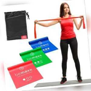 Fitnessbaender Widerstandsbaender Theraband Gymnastikbaender Yoga Band 3er Set