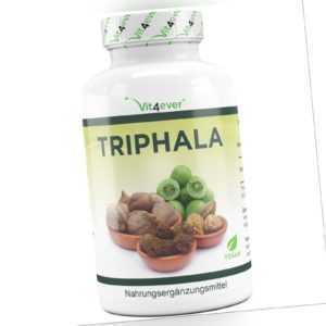 Triphala 240 Kapseln á 750 mg - Hochdosiert & Vegan - Amalaki & Bibhitaki