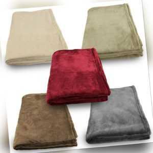 Flauschige Kuscheldecke Wohndecke Decke 150x200 cm Unifarben