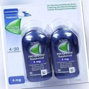 NICORETTE freshmint 4 mg Lutschtabletten gepresst 80 St PZN 10933968
