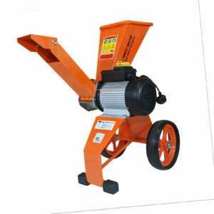 Elektro Häcksler 2800 Watt Schredder Gartenhäcksler Gartenschredder Holzhäcksler