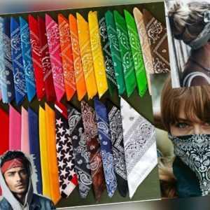 BANDANA Tuch Paisley Schutz Mund Nase Maske Halstuch Nickituch 100%Baumwolle NEU