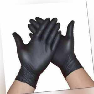 100 Stk Nitrilhandschuhe Schwarz puderfrei  Einmalhandschuhe Einweghandschuhe XL