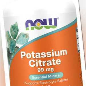 Now Foods, Potassium Citrate (Kalium), 99mg, 180 Vegane Kapseln - Blitzversand