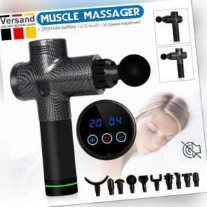 Electric Massage Gun Massagepistole Massager Muscle Massagegerät Mit 10 Köpfe DE