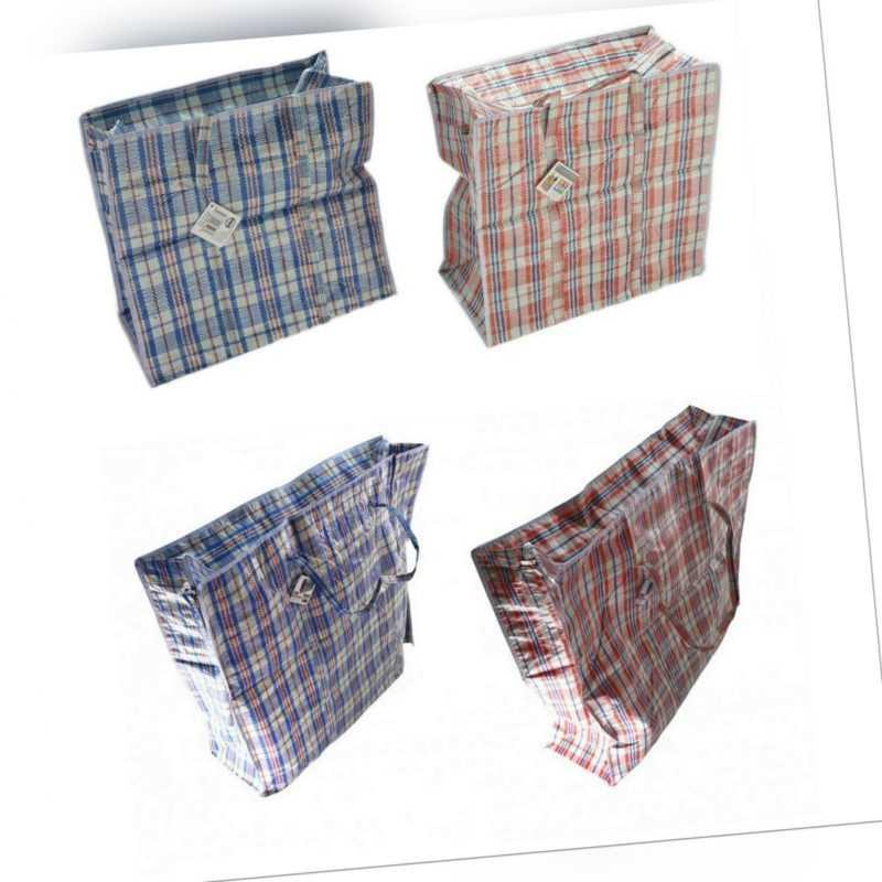 2x Plastiktasche mit Reißverschluss Einkaufstasche Aufbewahrungstasche XL XXL