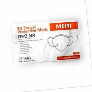 FFP2 Atemschutzmaske Mundschutz 5 lagig CE zertifiziert Maske Nase Mund