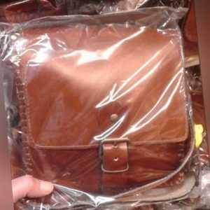 Borsello Piatto in CUOIO Tracolla verticale borsa Artigianale bag man 21x23 L4CM