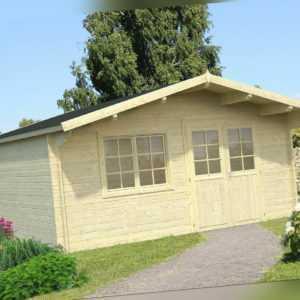 40mm Gartenhaus 500x500 cm Gerätehaus Holzhaus Holz Blockhaus Schuppen Hütte Neu
