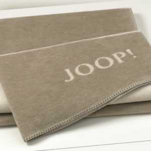 JOOP! Plaid / Decke MELANGE Doubleface Sand-Natur 150 x 200 cm