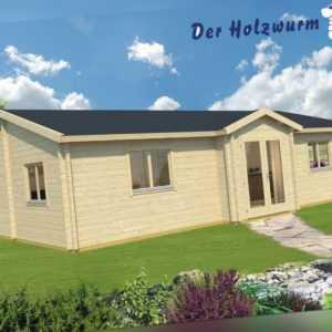 70 mm Ferienhaus ca. 1050x650 cm Blockhütte Holzhaus Gartenhaus Holzhütte Holz