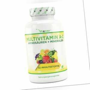 (50,34 EUR/kg) Vit4ever Multivitamin A-Z 365 Tabletten Glutenfrei Vegetarisch