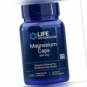 Life Extension, Magnesium, 500mg, 100 Vegane Kapseln - Blitzversand