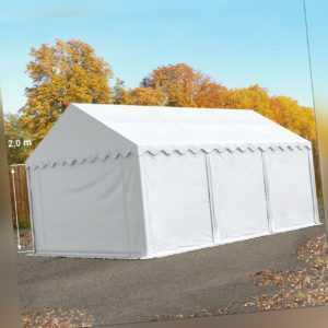 Lagerzelt 3x6m Weidezelt Zelthalle Zeltgarage PVC ca. 500g/m² wasserdicht weiß