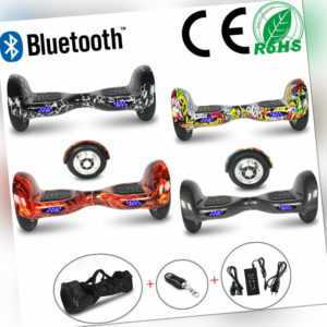 "Hoverboard 10"" Off-road Elektro Scooter Bluetooth All-Terrain Balance Skateboard"