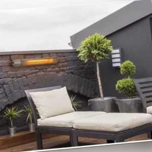 Designer Heizstrahler Infrarotheizer Wandmontage 64 cm Garten Draußen Drinnen