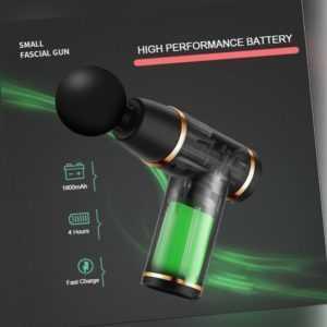 Mini Electric Massage Gun Tragbares Massagepistole Muscle Massagegerät LCD DHL