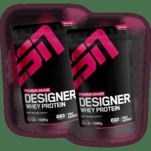 ESN Designer Whey Protein 2x 1000g Eiweiß Pulver Muskelaufbau Diät Abnehmen