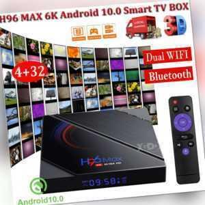 H96 MAX 4+32G Android 10.0 OS 6K TV BOX 5G WLAN BT4.0 Allwinner 3D Media Player