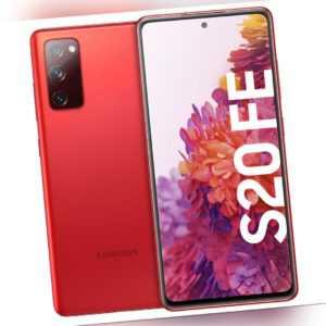Samsung G780F Galaxy S20 FE, 128 GB, Red, LTE,Dual-SIM,Schutzgrad...