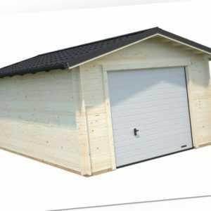 34 mm Holzgarage Tomas ca 380x570 cm Schuppen Blockhaus Carport Garage Holzhaus