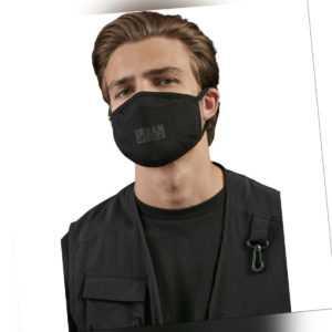 Urban Classics Cotton Face Mask 2-Pack Mund Nasen Maske Gesichtsmaske Bedeckung