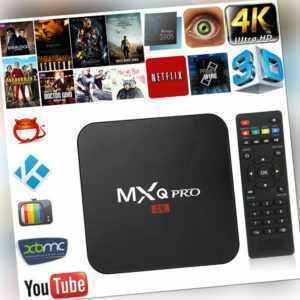 MXQ PRO Set Top TV Box UHD 4K Android 7.1 18.0 Quad Core 1+8G Media Player FR EU