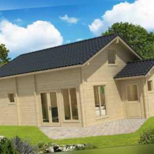 70 mm Ferienhaus Ceylon 760x560cm + Terrasse Gartenhaus Blockhaus Holzhaus Neu