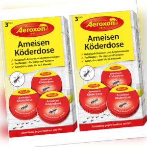 Aeroxon Ameisengift Ameisenköder Ameisen-Köderdosen 6x Ameisenschutz