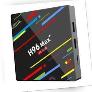 H96 Max Android 8.1 Set Top Box Quad-Core 4G RAM 32G ROM WiFi TV Box (UK) /Neu