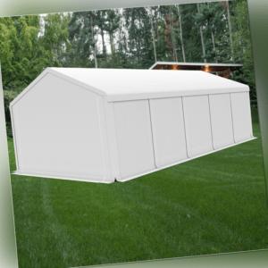 5X10m Lagerzelt Zeltgarage Unterstand Weidezelt Zelthalle STAHL STABIL SMART PE