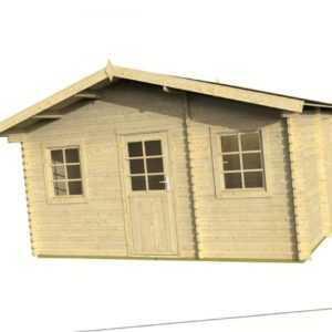 34mm Gartenhaus Havel INKLUSIVE Montage ca 447x330 cm Aufbau Gerätehaus Holzhaus
