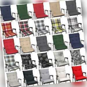 Auflagen Niedriglehner Sitzauflagen Gartenstuhl Sitzkissen Polster Kissen Sessel