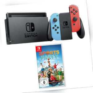 Nintendo Switch Konsole Neon-Rot / Neon-Blau Neu + Sports Party Neuware